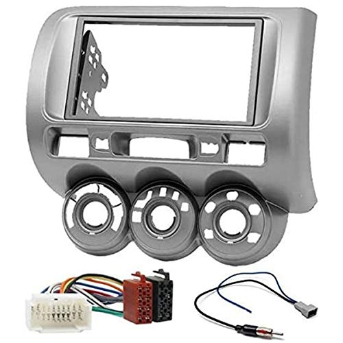 Sound Way - Kit Installazione autoradio 2 DIN Adattatore Radio per Honda Fit, Jazz 2002-2008 - KA11-464