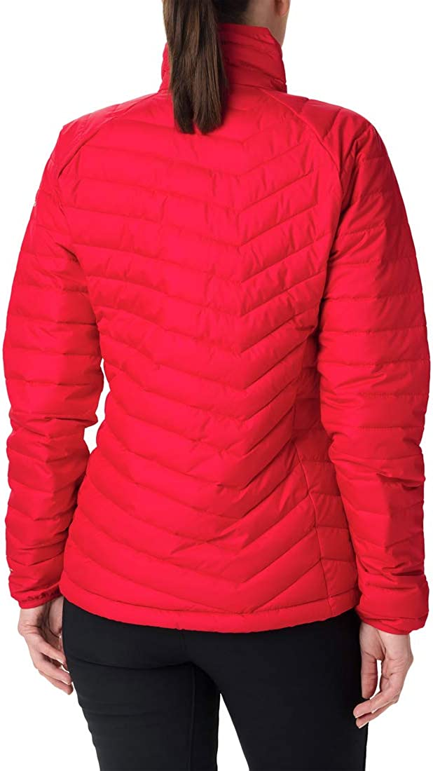 Columbia Damen Powder Lite Daunenjacke Mit Kapuze Red Lily