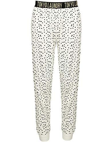Tokyo Laundry Damen Alice Oder Pippy Freizeithose Baumwolle Weich Schlafanzug Pyjama - Creme, XS