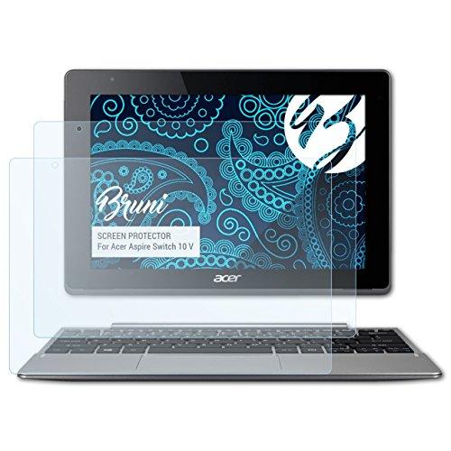 Bruni Schutzfolie kompatibel mit Acer Aspire Switch 10 V Folie, glasklare Displayschutzfolie (2X)