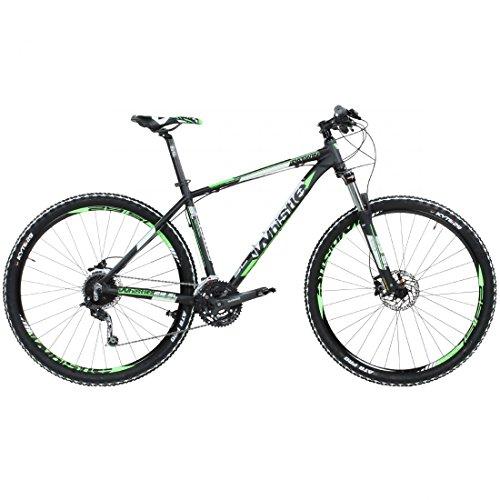 Whistle Patwin 150127S Bicicleta de montaña, 29 pulgadas, color negro y verde, color , tamaño 17 pulgadas, tamaño de cuadro 17.00 inches, tamaño de rueda 29.00 inches