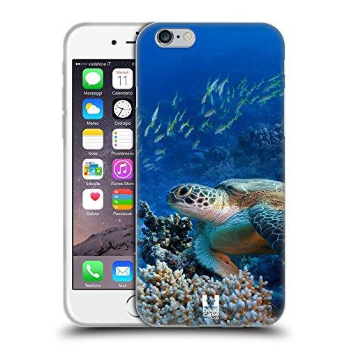 Head Case Designs Tartaruga di Mare Seduta sulla Barriera Corallina Animali Selvatici Cover in Morbido Gel e Sfondo di Design Abbinato Compatibile con Apple iPhone 6 / iPhone 6s