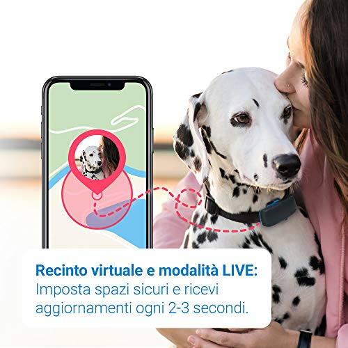 Tractive Localizzatore GPS per cani, a Portata illimitata, Monitoraggio dell'attività, Impermeabile (Ultimo modello)