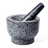 MANO Mortar and Pestle Set Unpolished Heavy Granite Spice Grinder Herb Grinder Molcajete