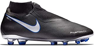 Mens Phantom VSN PRO DF FG Soccer Cleats Black/Blue