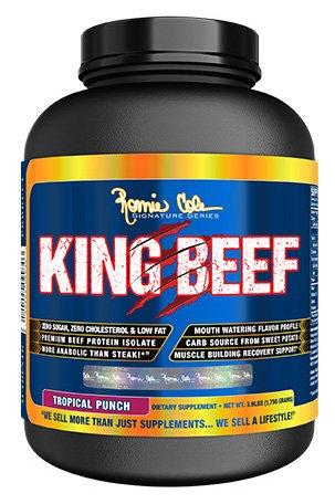 RCSS King Beef Protein Eiweiß 100% Beefprotein Isolate Proteinshake Laktosefrei Bodybuilding (1750g Tropical - tropische Früchte)