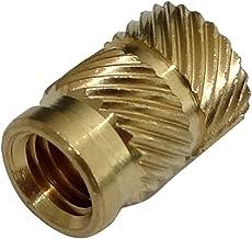 rosca M6 AERZETIX: Juego de 10 insertos roscados para soldar para termopl/ásticos C43483 montaje ultras/ónico lat/ón /Ø8.6mm longitud 12.7mm