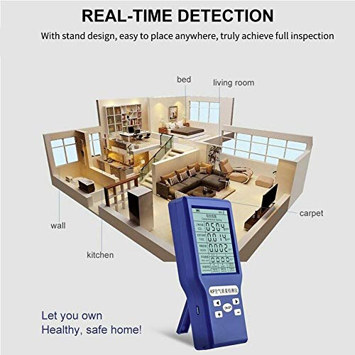 Carbon Dioxide Detector, Formaldehyde Detector, Air Quality Detector, Digital LCD Display Gas Analyzer Monitor Air Quality Meter for Home Indoor Outdoor