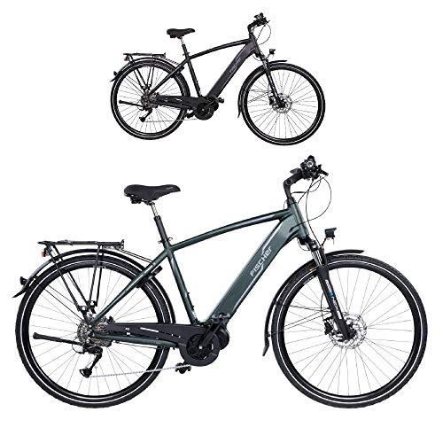 FISCHER Damen Trekking E-Bike VIATOR 4.0i, Elektrofahrrad, grün matt, 28 Zoll, RH 44 cm, Mittelmotor 50 Nm, 48 V Akku im Rahmen
