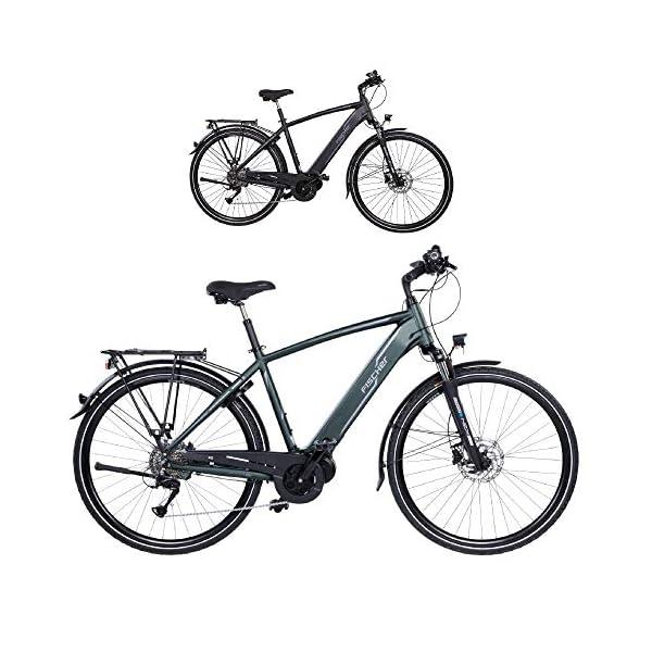 519I00GBCtL. SS600  - FISCHER Herren - E-Bike Trekking VIATOR 4.0i, schwarz oder grün matt, 28 Zoll, RH 50 cm, Mittelmotor 50 Nm, 48 V Akku im Rahmen