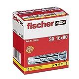 fischer 070016 Tacos 16, Modelo SX (Caja de 10 Unidades), 16x80