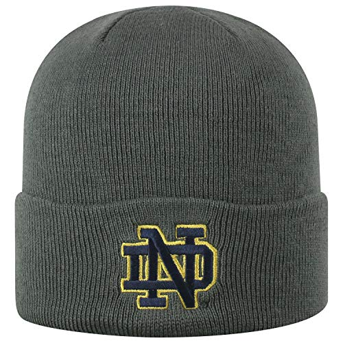 Top of the World Notre Dame Fighting Irish Men's Cuffed Knit Hat Charcoal Icon, One Fit