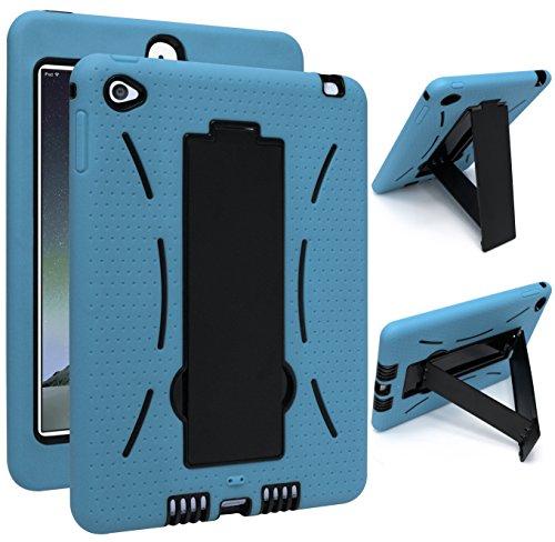 iPad Mini 4 Case, Bastex Hybrid High Impact Resistant Rugged Outer Sky Blue...