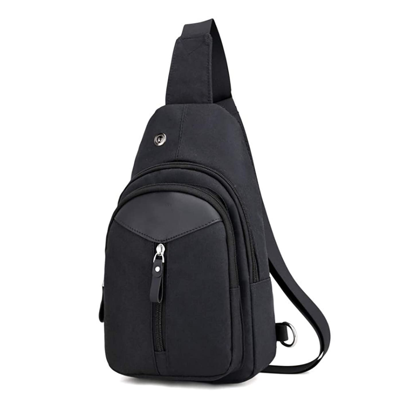 LMHX Shoulder Chest Crossbody Backpack Sling Bag Daypack Bicycle Travel Gym with External Headphone Hole