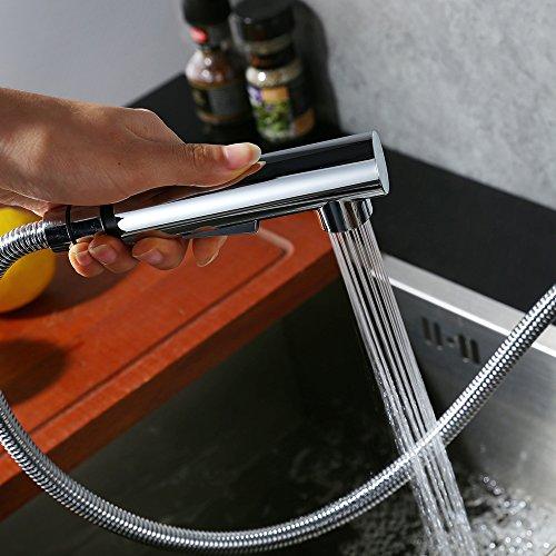 Homelody Verchromt Armatur Spüle Wasserhahn Brause Küchenarmatur ausziehbar Küche Mischbatterie Armaturen Spültisch Spültischarmatur - 2