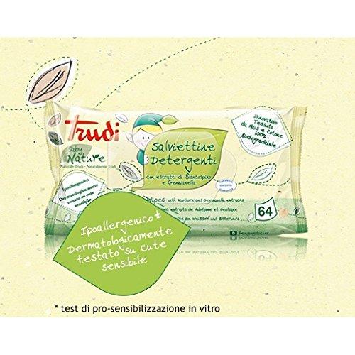 12 conf Salviettine Detergenti Baby Nature Trudi 64 pz Biancospino e Genzianella