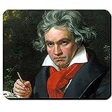 Ludwig van Beethoven Künstler Musiker Komponist 9te Sinfonie Europahymne Klassik Gemälde Porträt - Mauspad Mousepad Computer Laptop PC #16249