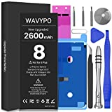 2600mAh Battery for iPhone 8, Wavypo Upgrade High Capacity New 0 Cycle Battery Replacement for iPhone 8 A1863 A1905 A1906 Spare Battery with Full Repair Tools and Adhesive Strips Kit