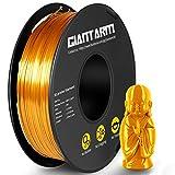 GIANTARM Filamento PLA 1.75mm Silk Dorado, Impresora 3D PLA Filamento 1 kg Carrete