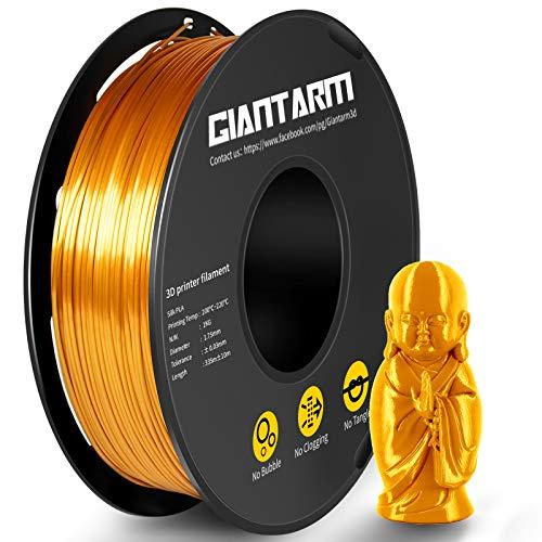 PLA Filament 1.75mm Silk Gold, GIANTARM Imprimante 3D Filament PLA 1kg Spool