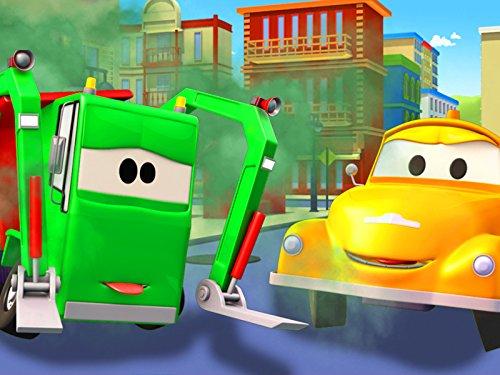 Müllauto und Tom der Abschleppwagen