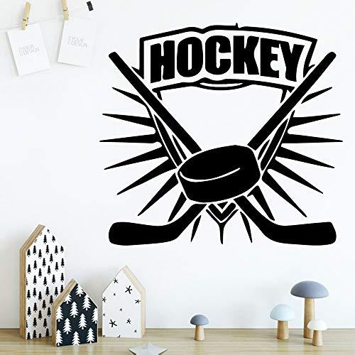 yaonuli Exquisite Hockey Schutz Vinyl Aufkleber Baby Zimmer Aufkleber Wand Wandaufkleber 45X48cm