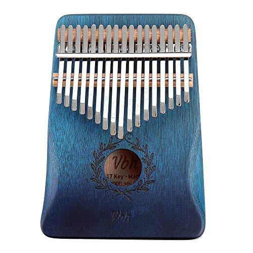ABMBERTK 17 Tastenhandschuhe Finger Daumen Klavier, Olivenzweig Calimbas Holz akustisches Musikinstrument, Mit Hammer Zubehör, Teak Farbe