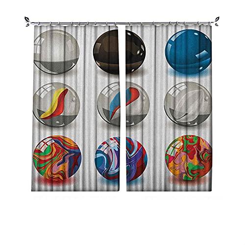 Cortinas plisadas con aislamiento térmico de perlas plisadas, colección de diferentes mármoles con materiales de vidrio y porcelana como burbujas, para travesaños y rieles, 84 x 84 pulgadas de ancho