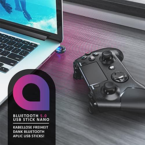CSL - Bluetooth 5.0 USB Adapter Nano - BT V5.0 Stick Dongle - für PC Laptop - Bluetooth Empfänger und Sender für Desktop Laptop Drucker Headset Lautsprecher - kompatibel mit Windows 8.1 10