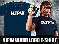 新日本プロレス NJPWワードロゴ Tシャツ(ネイビー) XLサイズ 棚橋弘至、ロスインゴ(内藤哲也)、オカダカズチカ