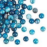 OLYCRAFT 100 pz 8mm Sardonice Naturale Perline A Strisce Agata Perline Fili Rotondi Sciolti Perline di Pietre Preziose Pietra Energetica per Braccialetto Collana Creazione di Gioielli