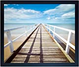 20X24 Black Gallery Poster or Picture Frame - Wide Molding - Includes Attached Vertical AND Horizontal Hanging Hardware - Plexiglass Front - Display 20 x 24 Inch Photos, Artwork, or Posters