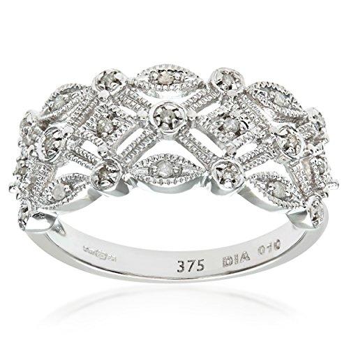Naava 9 ct White Gold Women's Diamond Ring