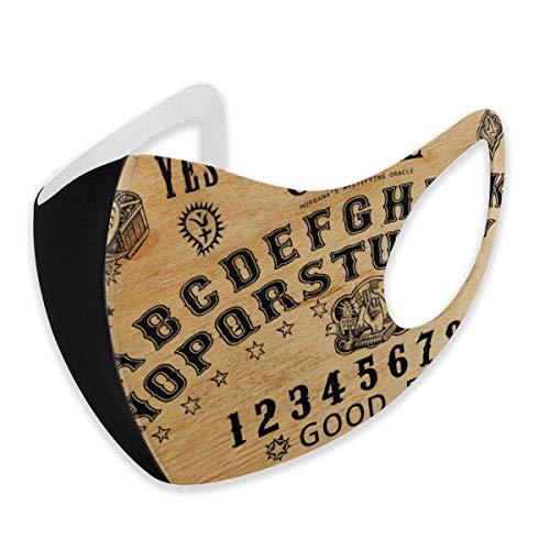Cubierta antipolvo para adultos y mujeres, estilo vintage Ouija, con diseño de calavera y malvado, reutilizable, lavable con trabillas ajustables para los oídos
