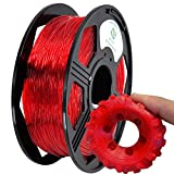 YOYI TPU 3D Printer Filament,Flexible Filament 1.75mm,100% Virgin Raw Material,0.8KG Spool,Dimensional Accuracy +/- 0.03 mm (Red)