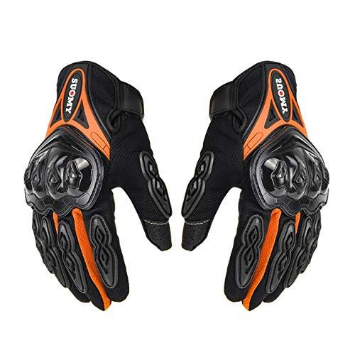 Guantes de Motocicleta Guantes Transpirables Moto Dedo Completo Moto Unisex Guantes de Motocross Motocicleta Poliéster Verano M-2XL-a47-XL