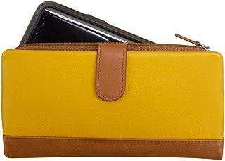 ili New York 7420 Leather Wallet with Zip Around Phone Pocket and RFID Blocking Lining