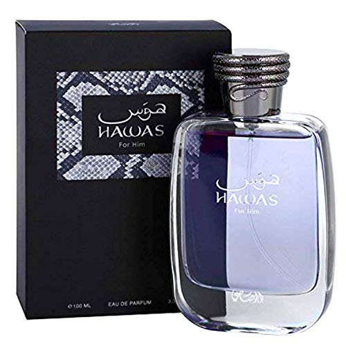 Hawas by Rasasi Eau De Parfum Spray 3.33 oz / 98 ml (Men)