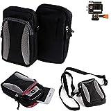 Für Rollei Actioncam 425 Gürtel Tasche Holster Umhänge Tasche Fototasche Schutz Hülle Für...