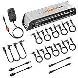Donner DP-Z 9V Guitar Pedal Power Supply 11 Isolated DC Output with USB Port for 9V/12V/18V Effect Pedal DC 18v 2000m Input