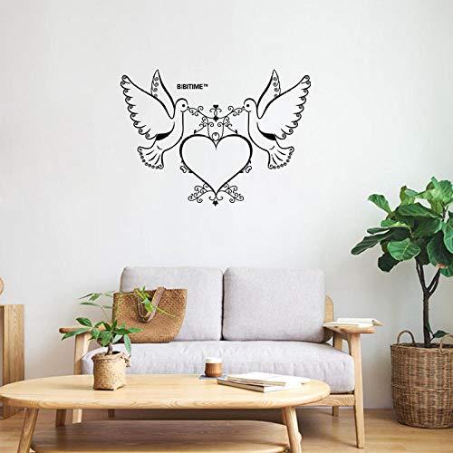 Etiqueta de la pared personalidad creativa paloma de la paz sala de...