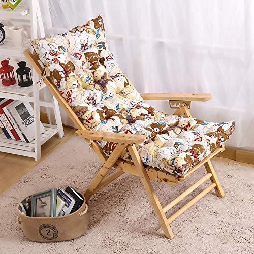 SKRCOOL Tuin schommelstoel Pad,balkon Patio Zon Lounger Strandstoel Kussen met banden, cartoon patroon, geen stoel Cartoon 19x48inch