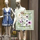 CRNC0058 - Pegatina para ventana de la colección Primavera Verano, 100 % reutilizable, decoración para escaparates de tiendas, escaparates sin pegamento, reposicionable y reutilizable a voluntad