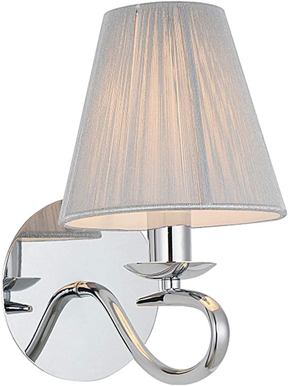 Wandlampe LED Wandleuchte Industrial Stoff Eisen E27 Innen Art Deco für