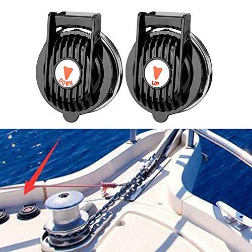 2 Stück Universal Boot Ankerwinde Windenfußschalter Marine Ankerwinde Fußschalter Auf und Ab Bootsschiff Anker Winde Schalter Auf und Ab