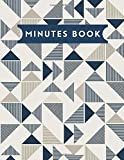 Minutes Book: Notebook for Taking Minutes, Secretary Logbook Journal, Business Meeting Organizer and Information Record Log Book Notepad with Action ... and office use 8.5x11 with 120 pages