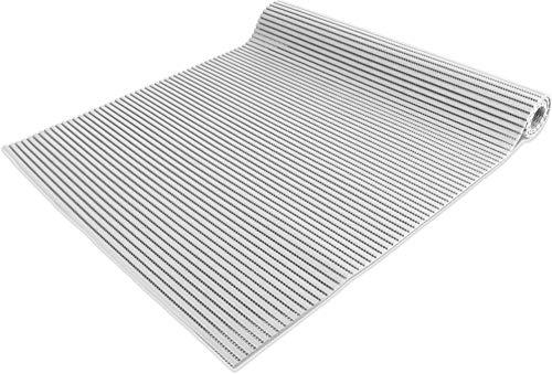 normani 65 oder 130 cm breiter Badvorleger/rutschfeste Matte/Bodenbelag aus PVC Weichschaum,wasserabweisend und rutschhemmend für Bad, Dusche oder Küche Farbe Weiß Größe 130 cm x 100 cm