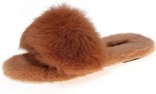 Spa Slippers, Home Slippers for Girls Men, Women's Soft Plush Lightweight House Slippers, Outdoor Open Toe Slippers,Orange,US8.5