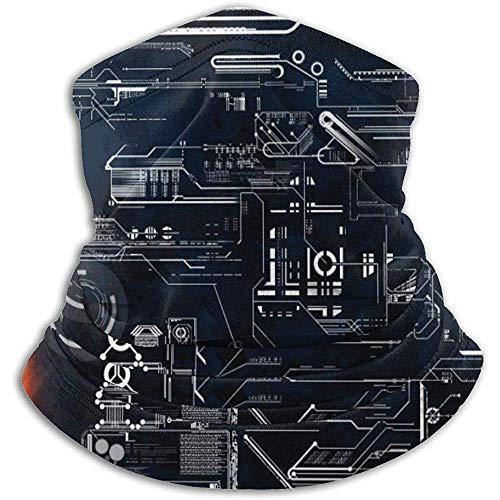 Faithe Keppel Hals Schal Maschine Schaltplan Science Fiction Nackenschutz Wärmer Ultra Soft Polyester Nackenwärmer Atmungsaktive Gesichtsmaske Ski Neck