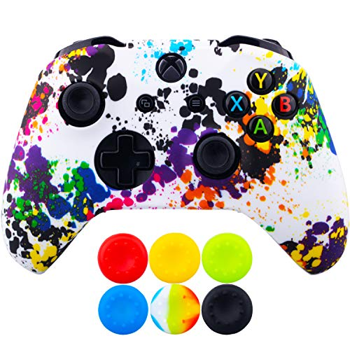 9CDeer 1 Piece of SiliconeTransfer Print Protective Cover Skin + 6 Thumb Grips for Xbox One/S/X...